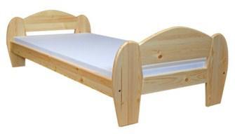 Jednolôžková posteľ 90 cm - WIP - Krystian (masív)