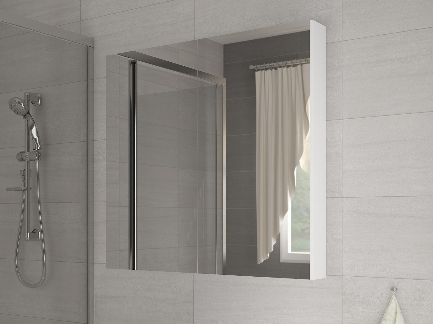 Kúpelňová skrinka na stenu - WIP - Della 60 biela + zrkadlo