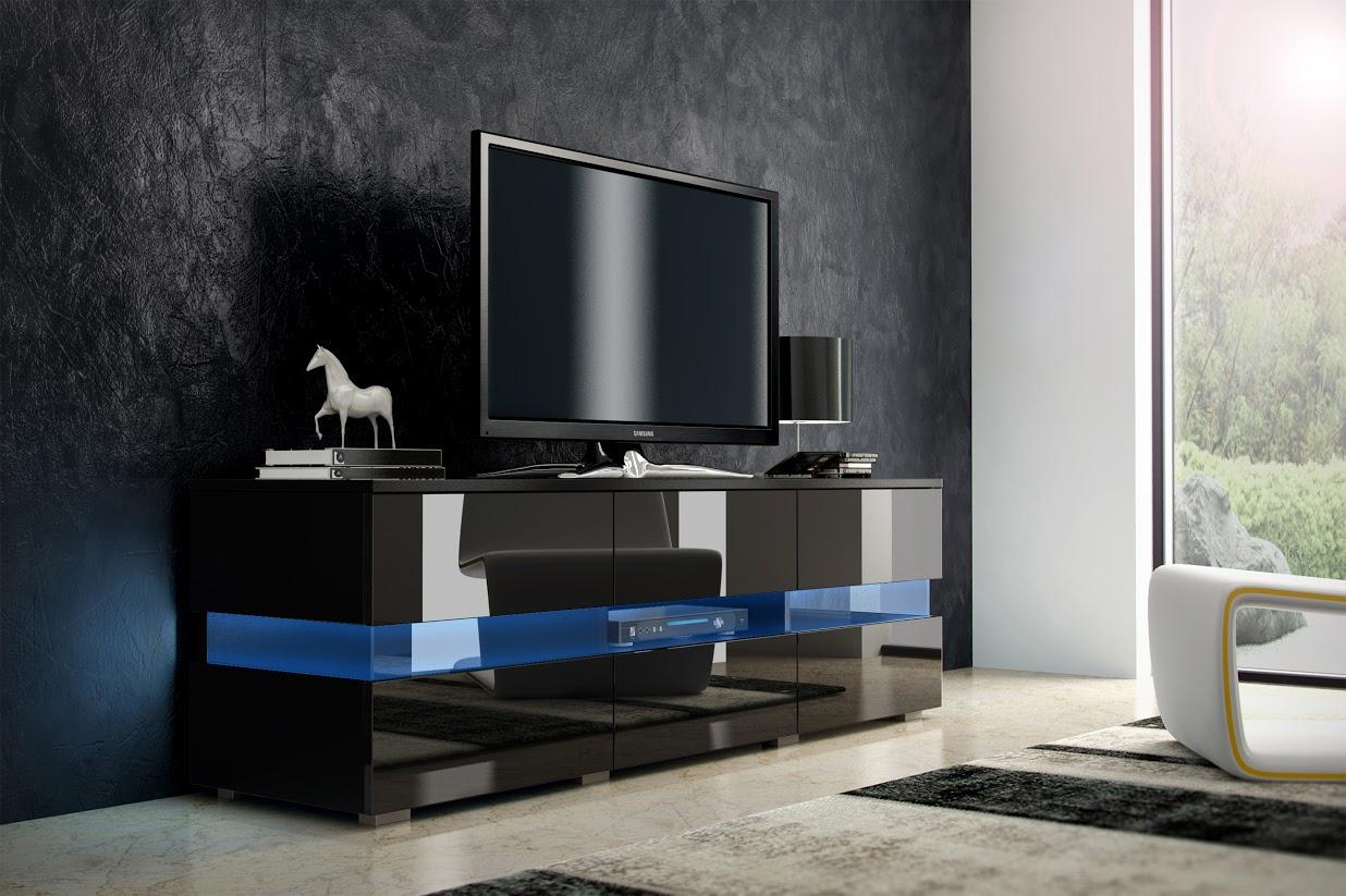 TV stolík - WIP - Inter - čierna + lesk čierny. Sme autorizovaný predajca WIP. Vlastná spoľahlivá doprava až k Vám domov.