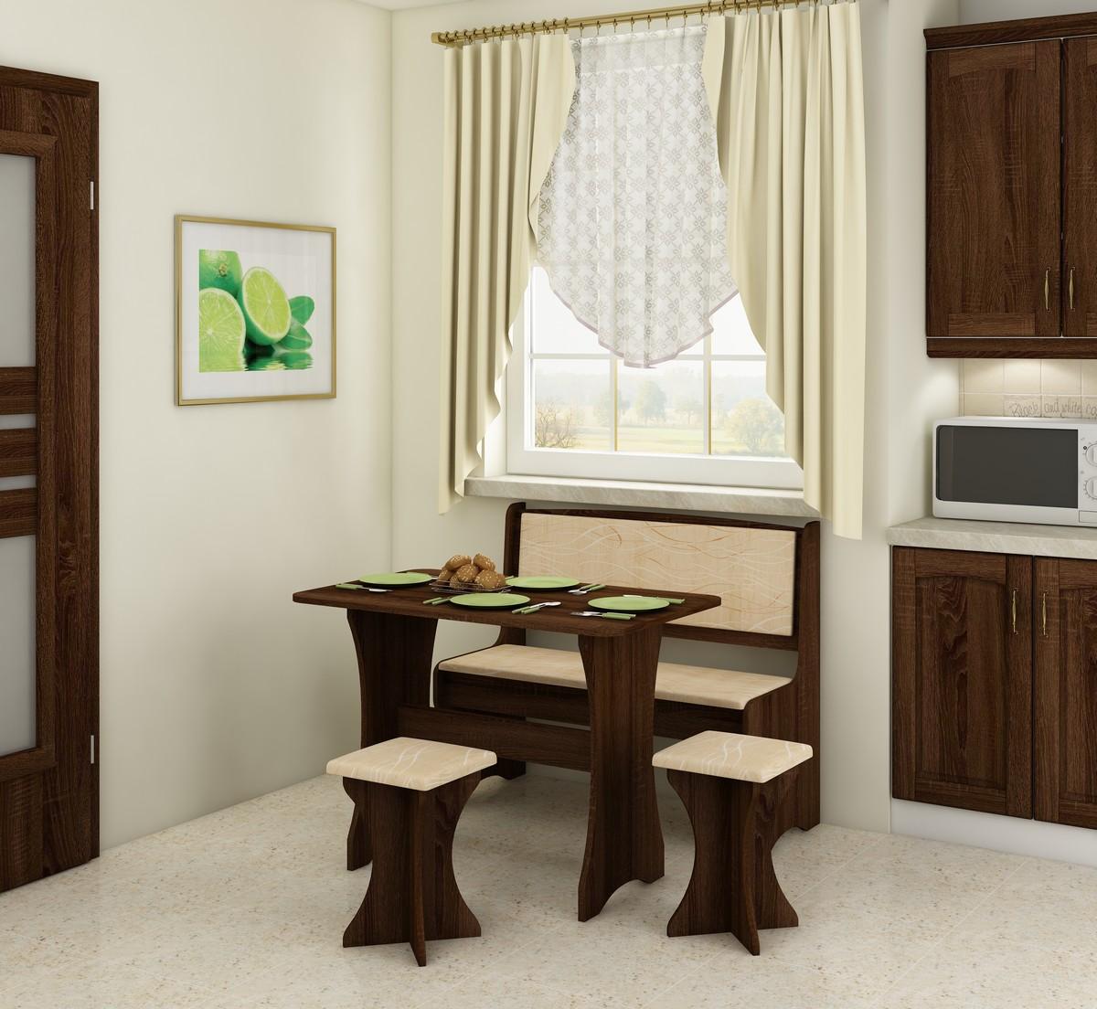 Jedálenský set - WIP - dub sonoma tmavá + monaco (s taburetkami) (pre 4 osoby). Sme autorizovaný predajca WIP. Vlastná spoľahlivá doprava až k Vám domov.