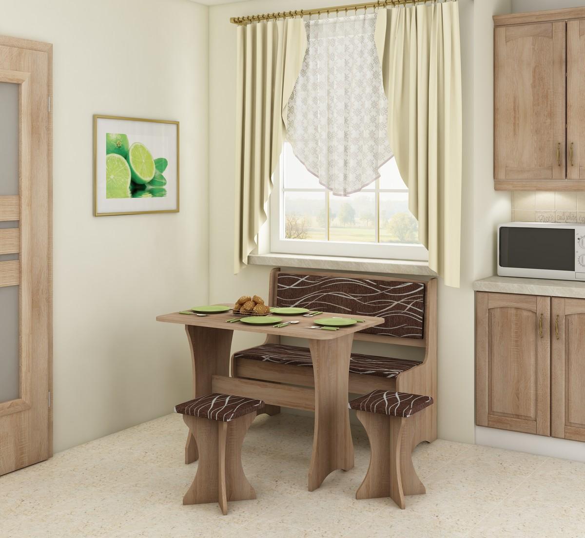 Jedálenský set - WIP - dub sonoma svetlá + safari (s taburetkami) (pre 4 osoby). Sme autorizovaný predajca WIP. Vlastná spoľahlivá doprava až k Vám domov.