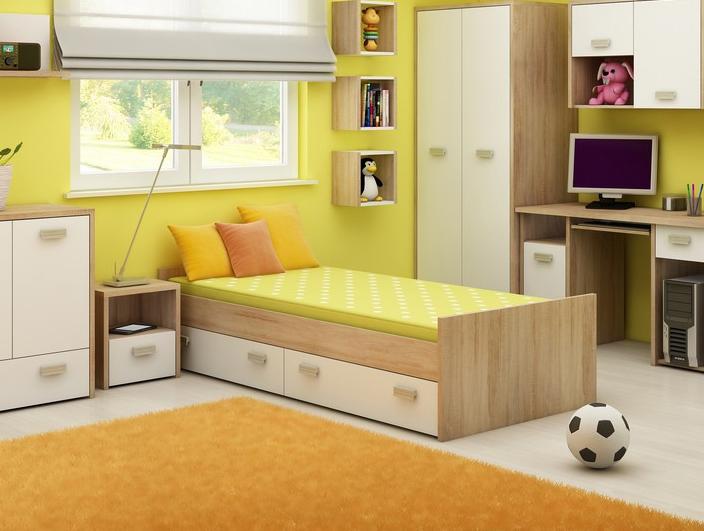 Jednolôžková posteľ 90 cm - WIP - Kitty - KIT 05