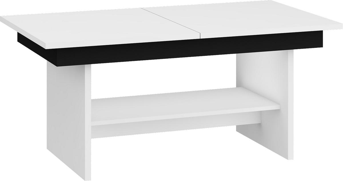 Konferenčný stolík - WIP - Dallas Biela + čierna