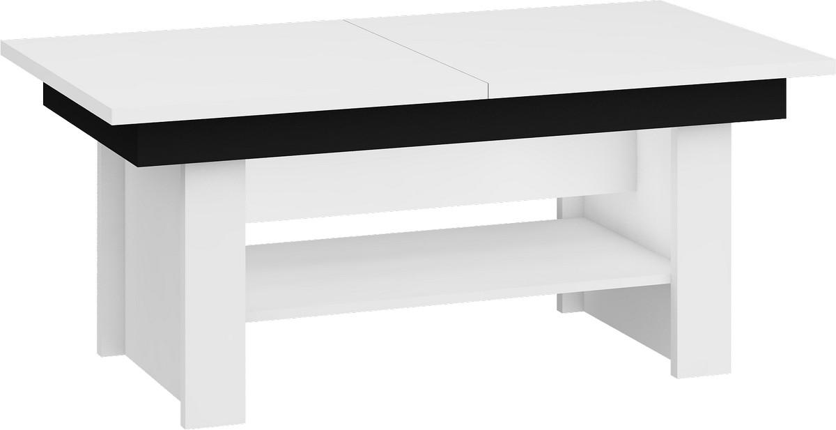 Konferenčný stolík - WIP - Mexico Biela + čierna