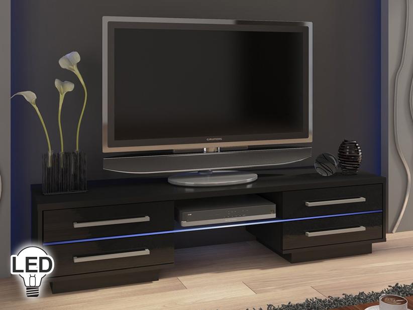 TV stolík/skrinka - WIP - Laguna (čierna + lesk čierny)