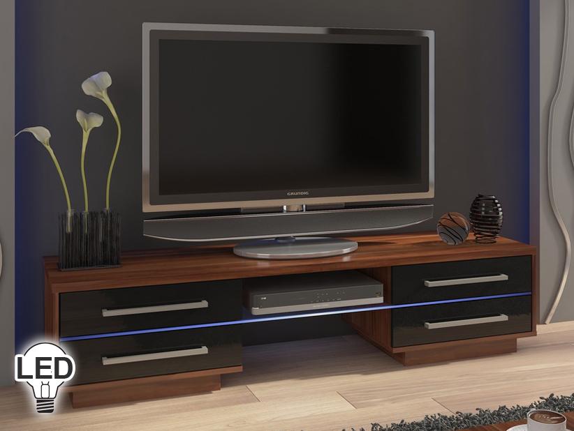 TV stolík/skrinka - WIP - Laguna (slivka + lesk čierny)