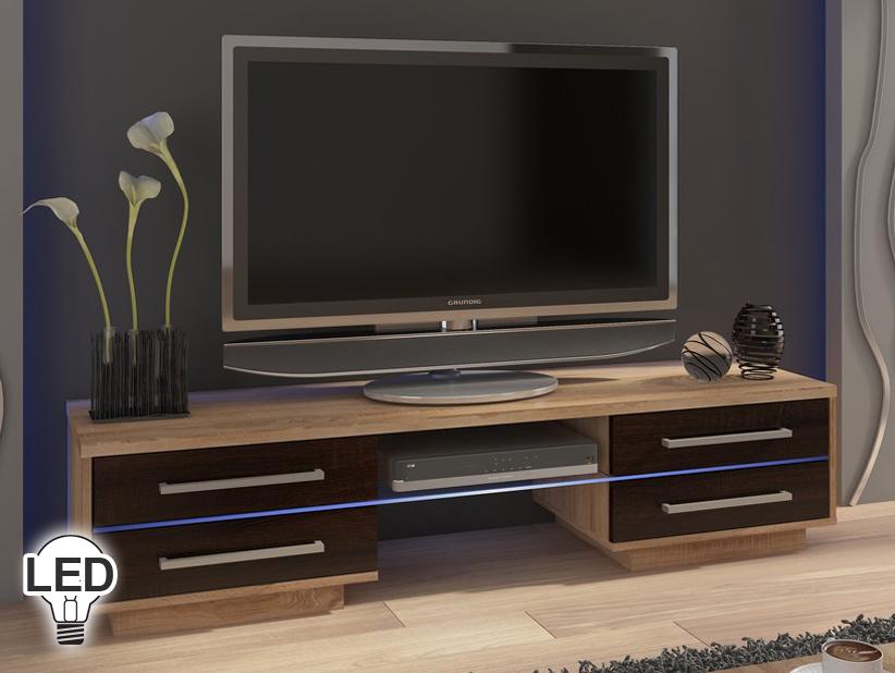 TV stolík/skrinka - WIP - Laguna (sonoma svetlá + tmavá)