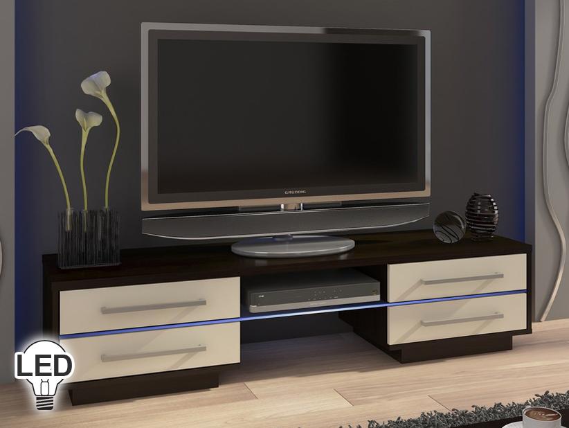 TV stolík/skrinka - WIP - Laguna (wenge + krém)