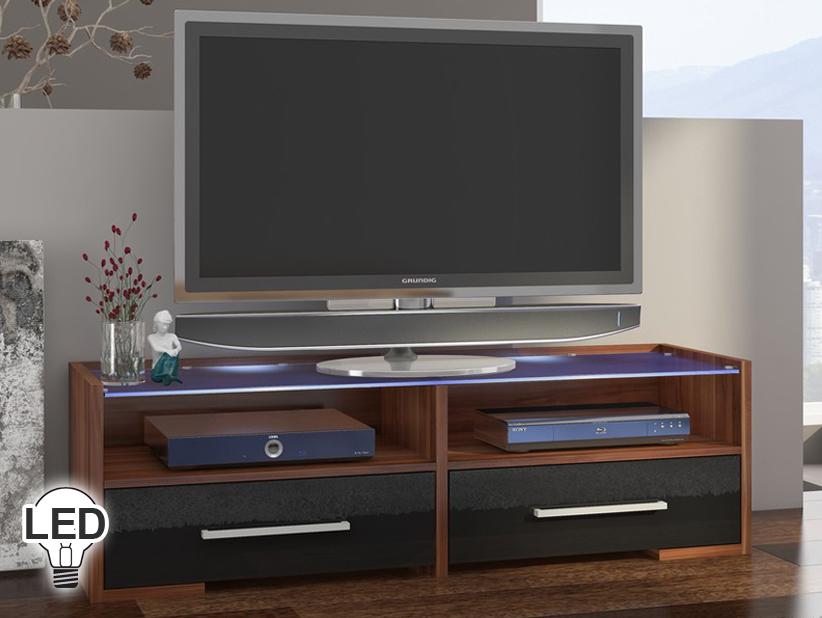 TV stolík/skrinka - WIP - Semprio (slivka + lesk čierny)