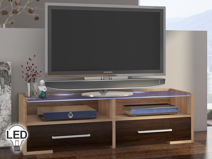 TV stolík/skrinka - WIP - Semprio (sonoma svetlá + tmavá)