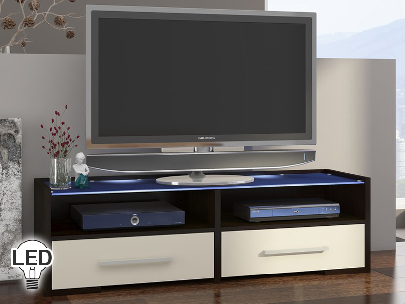 TV stolík/skrinka - WIP - Semprio (wenge + krém)