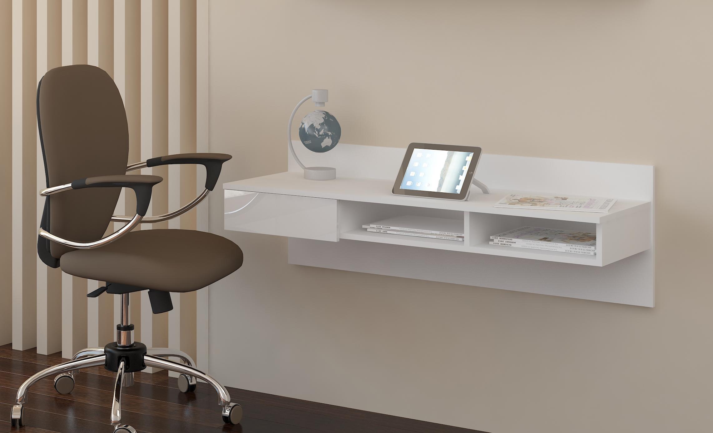 PC stolík Uno biela + lesk biely  b7c4e4693e2