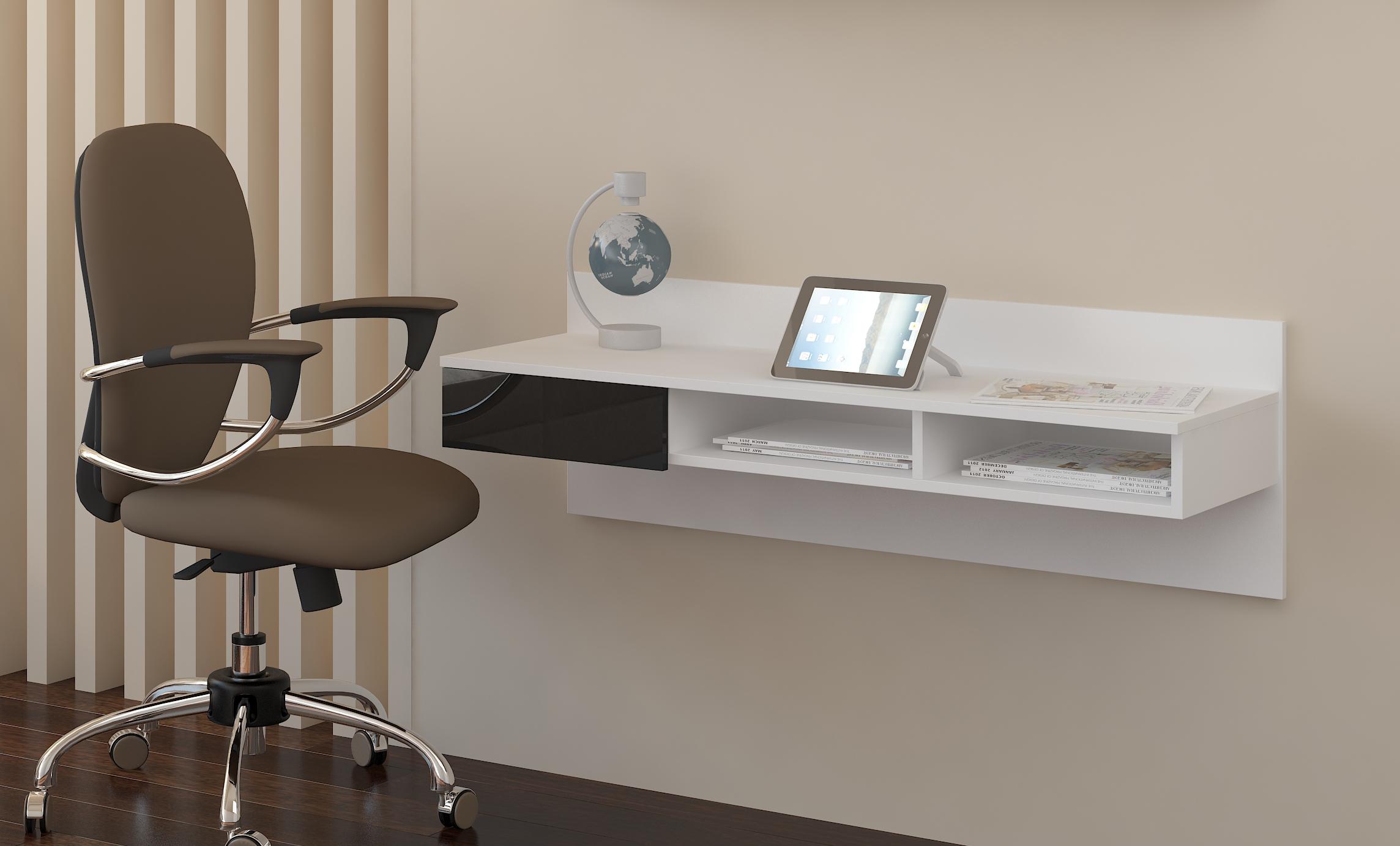 PC stolík - WIP - Uno biela + lesk čierny