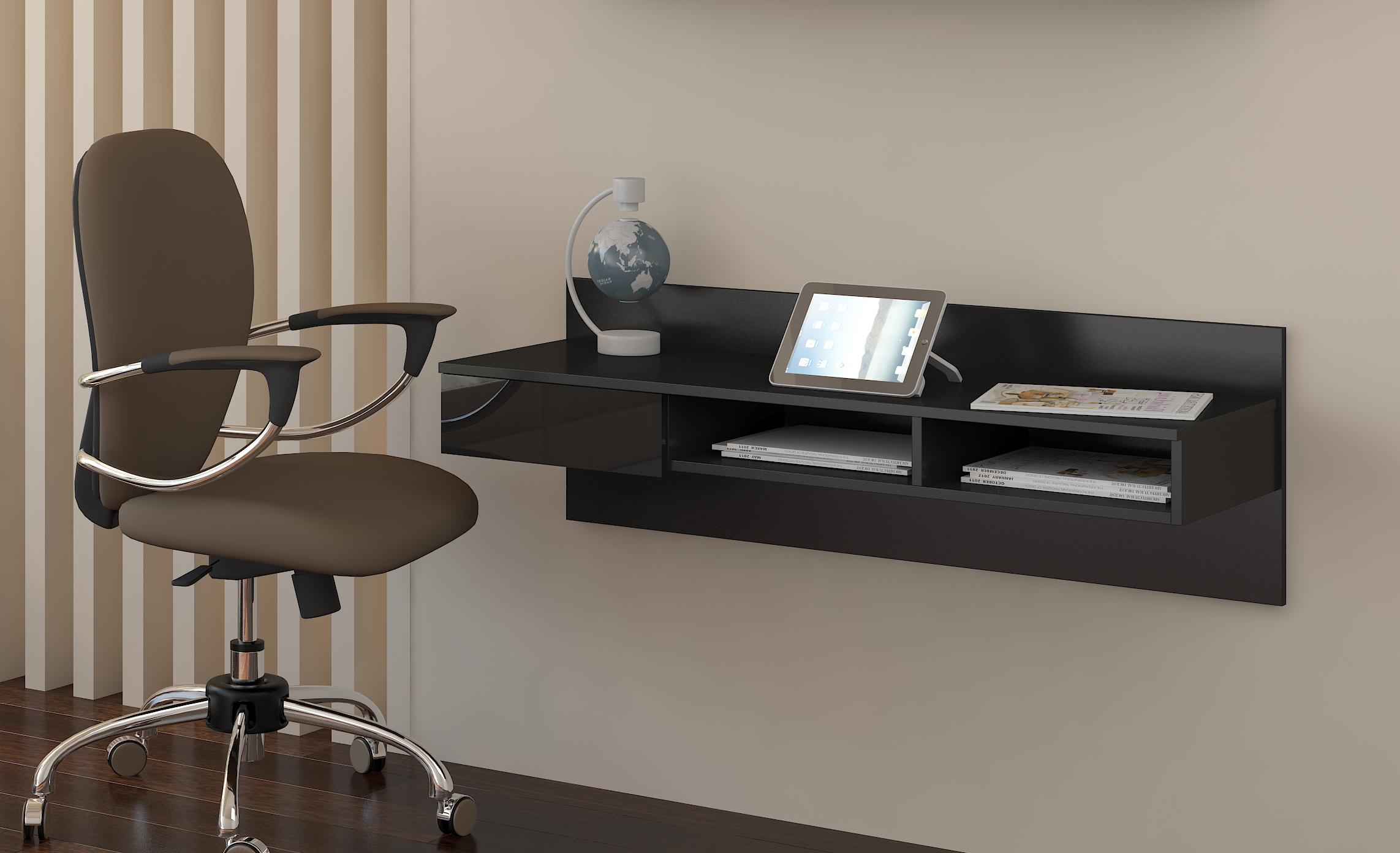 PC stolík - WIP - Uno čierna + lesk čierny