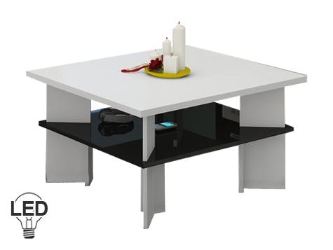 Konferenčný stolík - WIP - Vectra 1 (biela + lesk čierny). Sme autorizovaný predajca WIP. Vlastná spoľahlivá doprava až k Vám domov.