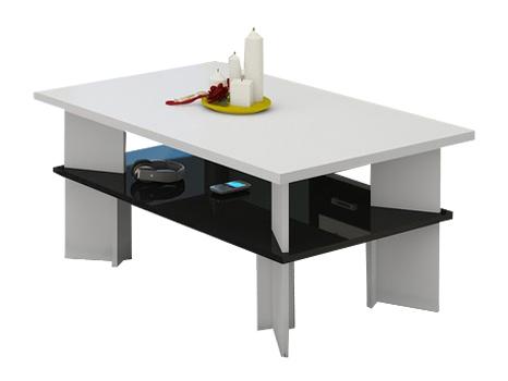 Konferenčný stolík - WIP - Vectra 2 (biela + lesk čierny). Sme autorizovaný predajca WIP. Vlastná spoľahlivá doprava až k Vám domov.