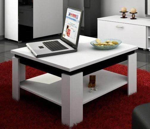 Konferenčný stolík - WIP - Alfa (Biela + Lesk čierny). Sme autorizovaný predajca WIP. Vlastná spoľahlivá doprava až k Vám domov.