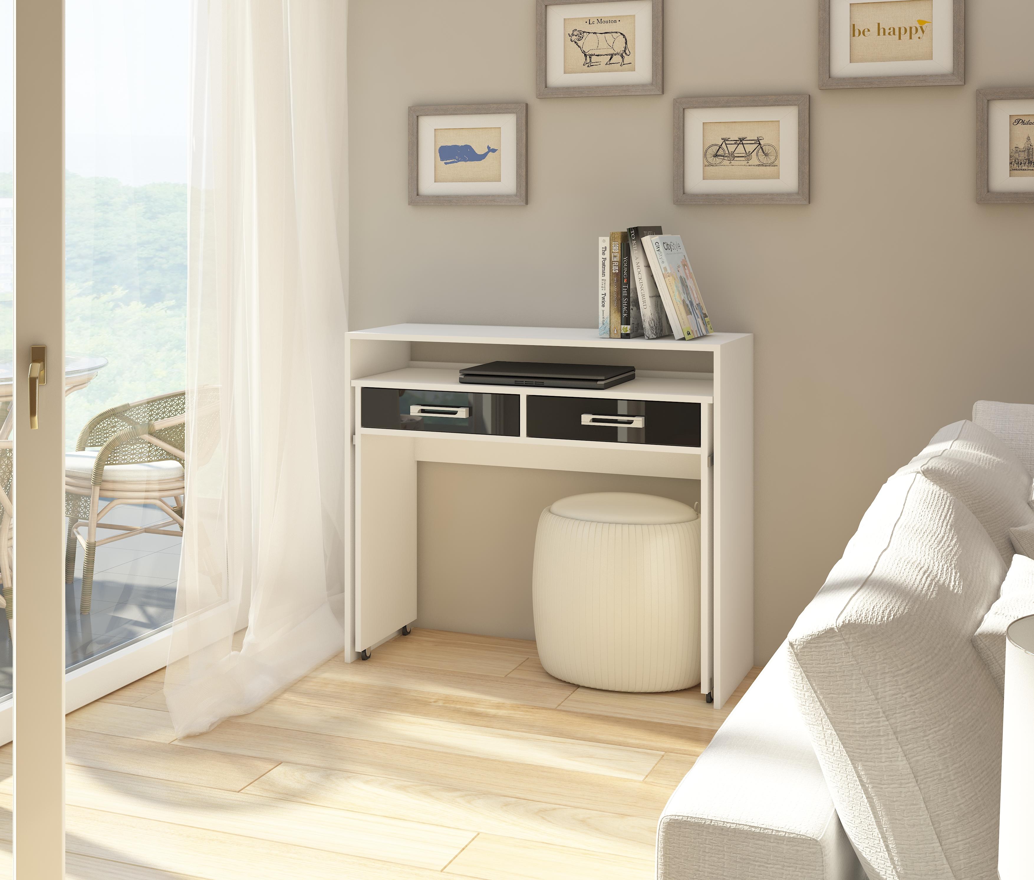PC stolík - WIP - Zoom biela + lesk čierny. Sme autorizovaný predajca WIP. Vlastná spoľahlivá doprava až k Vám domov.