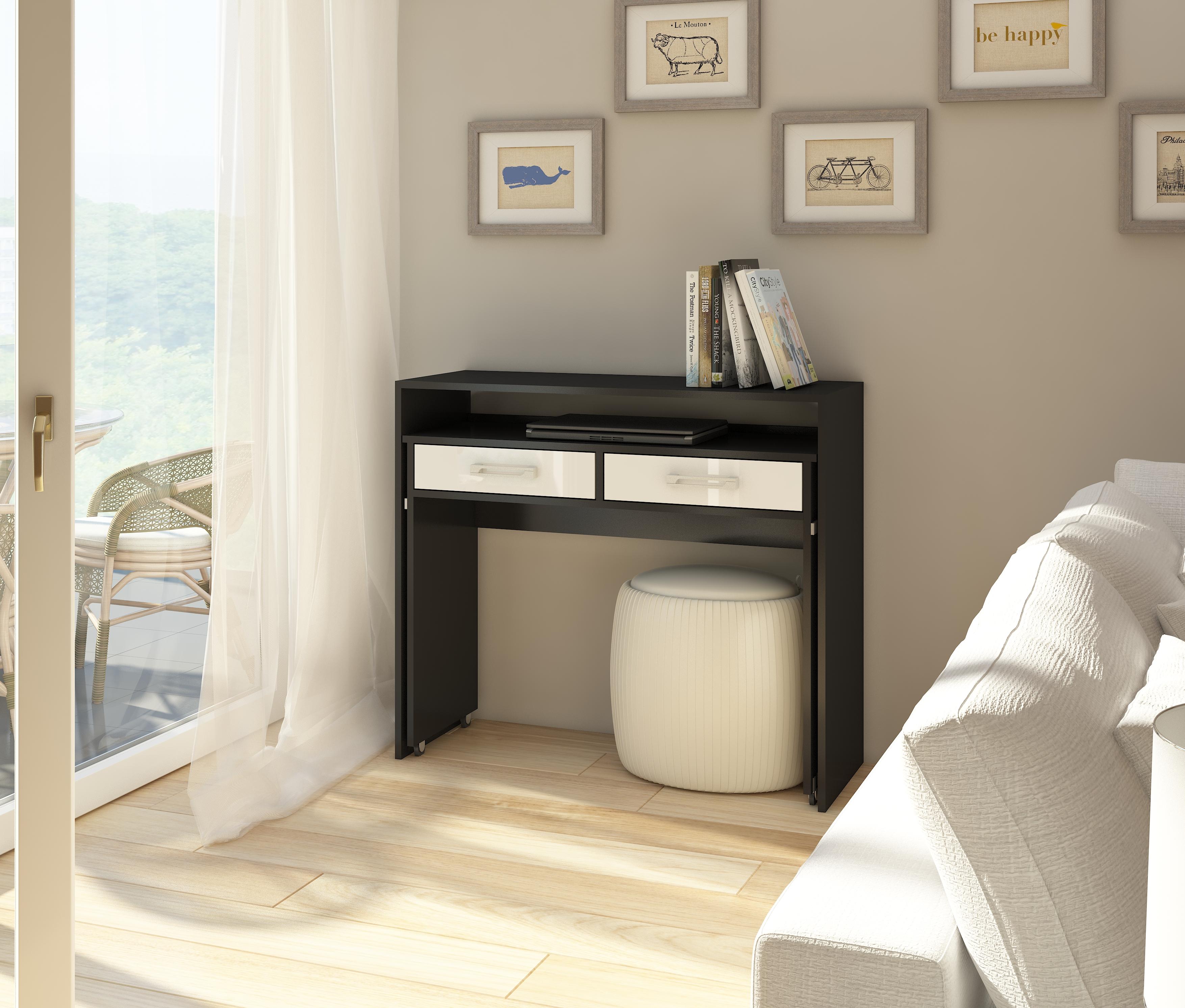 PC stolík - WIP - Zoom čierna + lesk biely. Sme autorizovaný predajca WIP. Vlastná spoľahlivá doprava až k Vám domov.