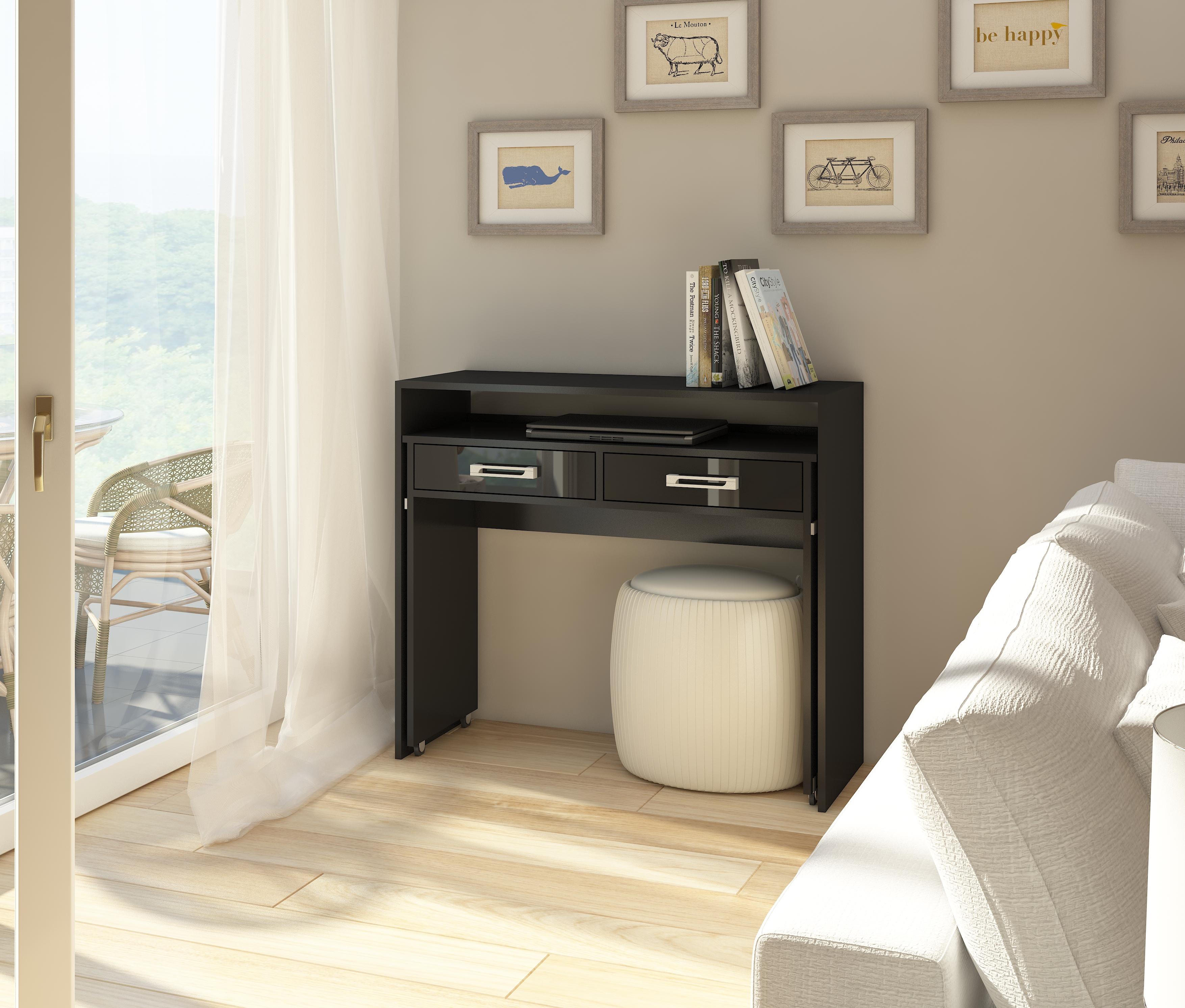 PC stolík - WIP - Zoom čierna + lesk čierny. Sme autorizovaný predajca WIP. Vlastná spoľahlivá doprava až k Vám domov.