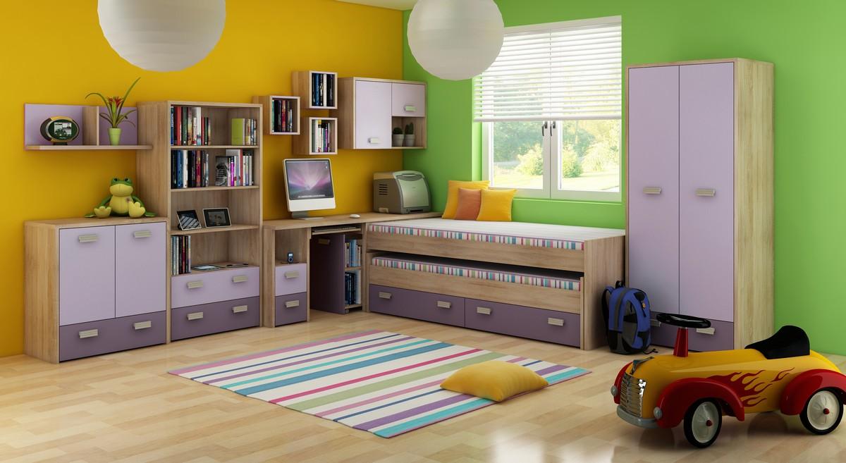 Detská izba - WIP - Kitty 1 Sonoma svetlá + fialová