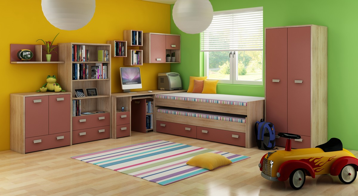 Detská izba - WIP - Kitty 1 Sonoma svetlá + korálová