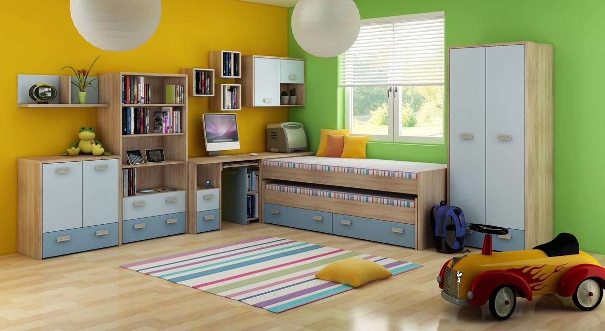 Detská izba - WIP - Kitty 1 Sonoma svetlá + modrá