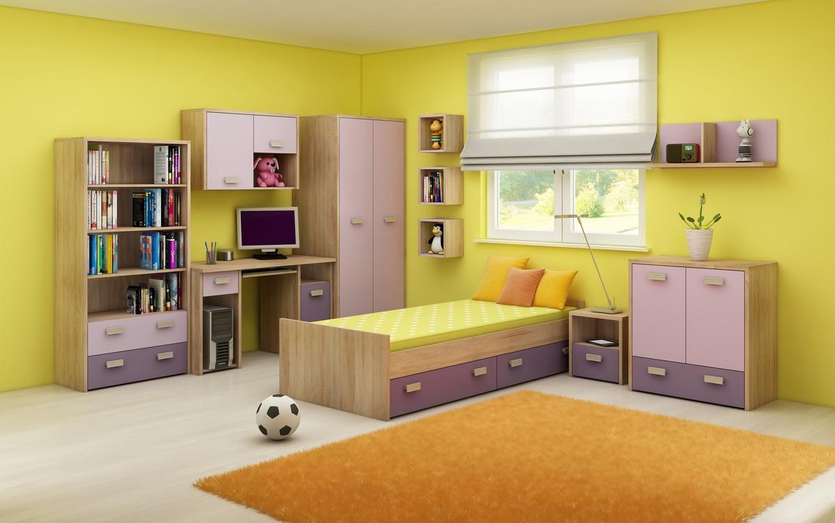 Detská izba - WIP - Kitty 2 Sonoma svetlá + fialová