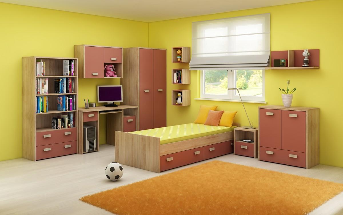 Detská izba - WIP - Kitty 2 Sonoma svetlá + korálová