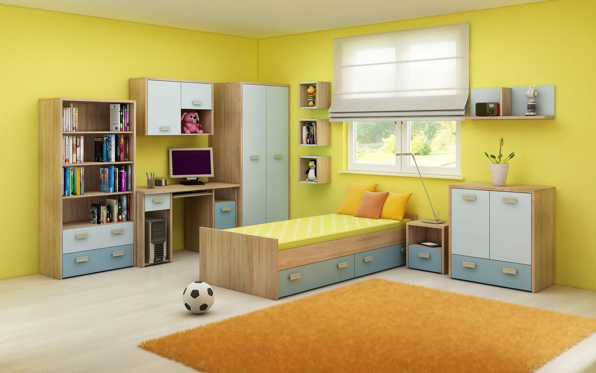 Detská izba - WIP - Kitty 2 Sonoma svetlá + modrá