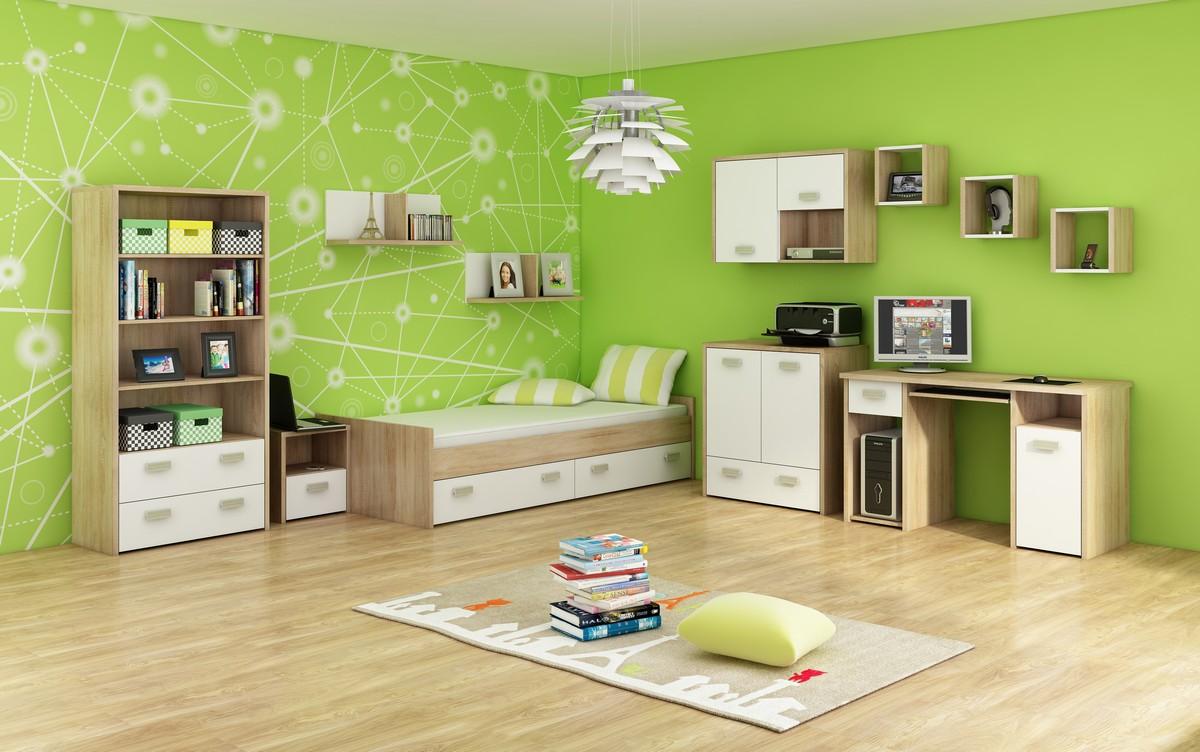 Študentská izba - WIP - Kitty 3 Sonoma svetlá + biela