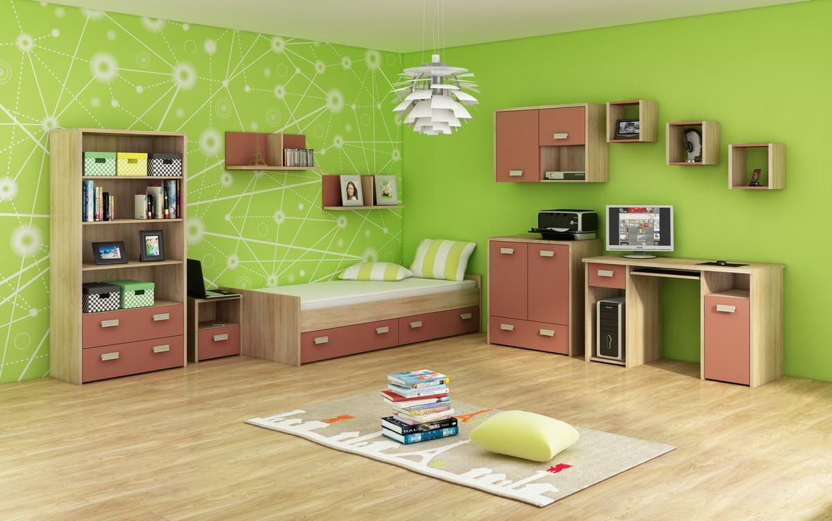 Študentská izba - WIP - Kitty 3 Sonoma svetlá + korálová
