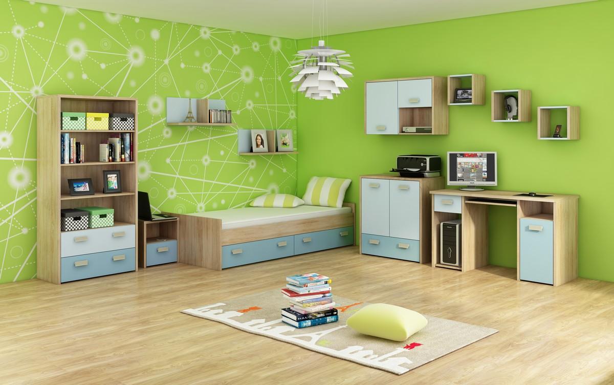 Študentská izba - WIP - Kitty 3 Sonoma svetlá + modrá