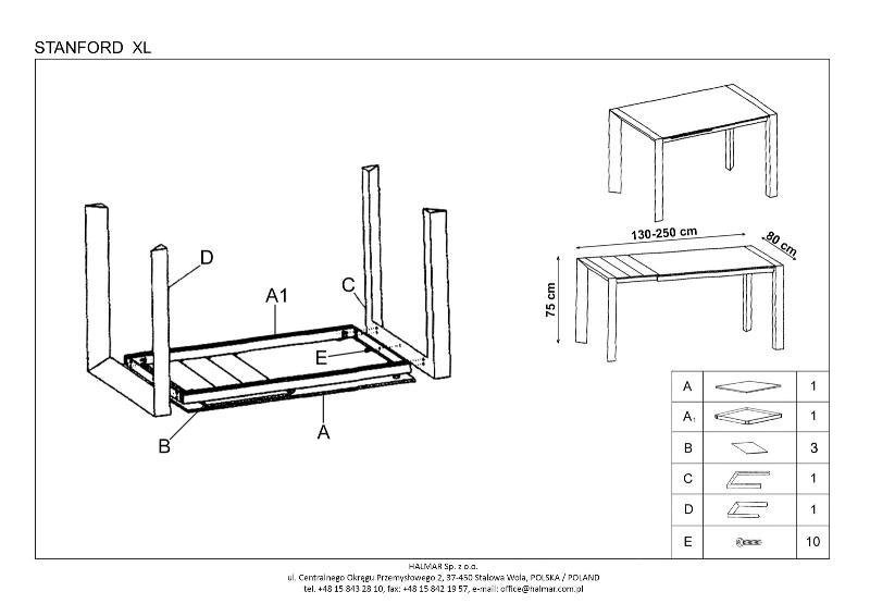 dbb936e1f2a70 stôl sa rozkladá potiahnutím resp. vysunutím predlžovacej časti. Môžte to  vidieť na montážnom návode: ...